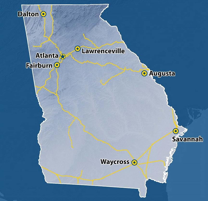 Georgia CSXcom - Csx railroad map