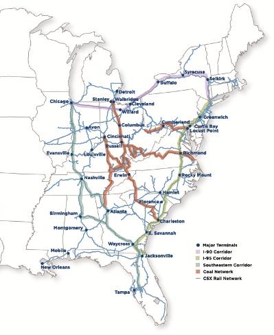 CSX Company Overview CSXcom - Csx railroad map