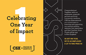 Click here for the <br>2019 CSX Pride in Service Impact Report