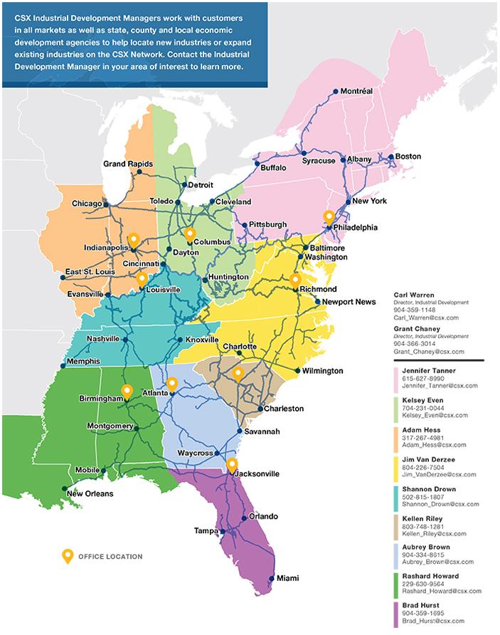 Contact Us CSXcom - Csx railroad map