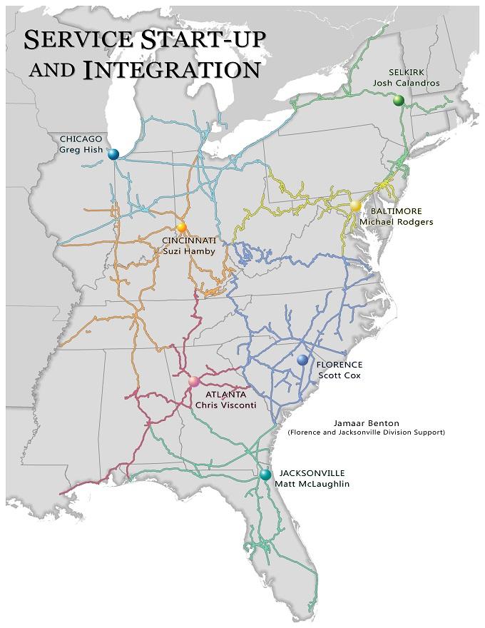 Service StartUp And Integration CSXcom - Csx railroad map